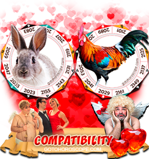 Rabbit Rooster Zodiac signs Compatibility Horoscope