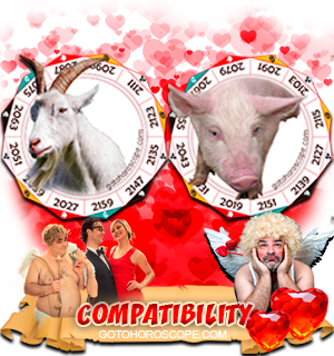 Ram Pig Zodiac signs Compatibility Horoscope