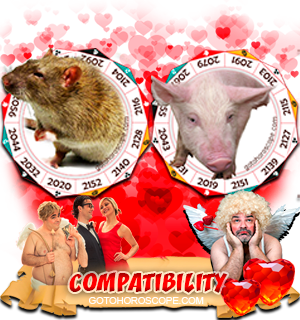 Rat Pig Zodiac signs Compatibility Horoscope