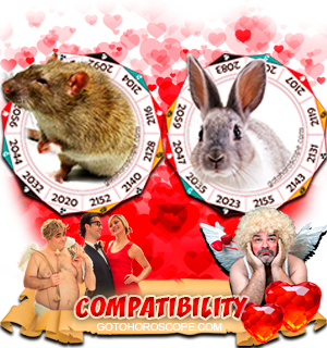 Rat Rabbit Zodiac signs Compatibility Horoscope