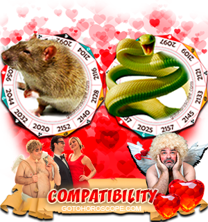 Rat Snake Zodiac signs Compatibility Horoscope