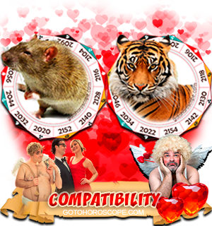 Rat Tiger Zodiac signs Compatibility Horoscope