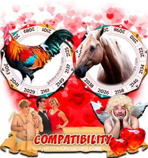 Rooster Horse Zodiac signs Compatibility Horoscope