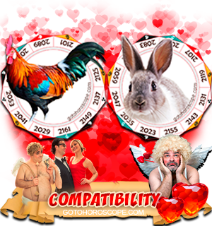 Rooster Rabbit Zodiac signs Compatibility Horoscope
