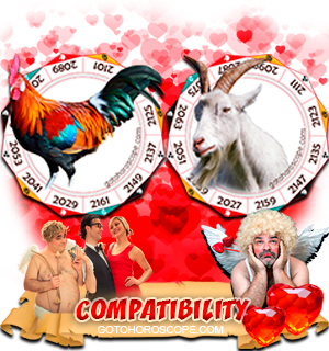 Rooster Ram Zodiac signs Compatibility Horoscope