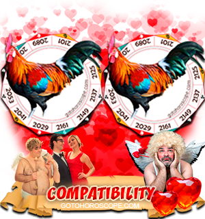 Rooster Rooster Zodiac signs Compatibility Horoscope
