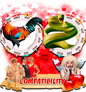 Rooster Snake Zodiac signs Compatibility Horoscope