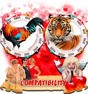 Rooster Tiger Zodiac signs Compatibility Horoscope