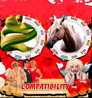 Snake Horse Zodiac signs Compatibility Horoscope