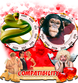 Snake Monkey Zodiac signs Compatibility Horoscope