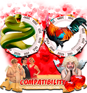Snake Rooster Zodiac signs Compatibility Horoscope