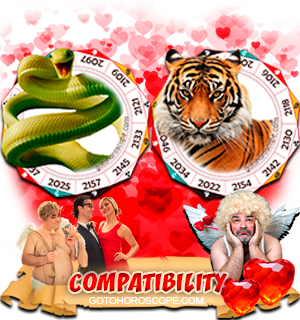 Snake Tiger Zodiac signs Compatibility Horoscope
