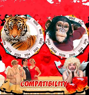 Tiger Monkey Zodiac signs Compatibility Horoscope