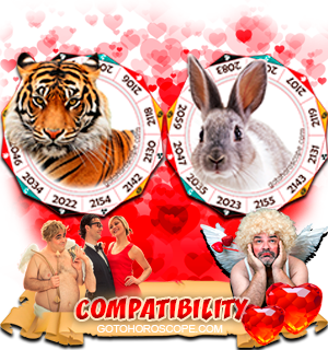 Tiger Rabbit Zodiac signs Compatibility Horoscope