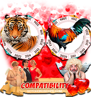 Tiger Rooster Zodiac signs Compatibility Horoscope