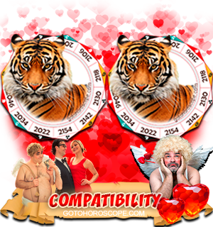 Tiger Tiger Zodiac signs Compatibility Horoscope