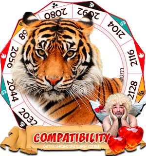 Chinese Zodiac sign Tiger Compatibility Horoscope