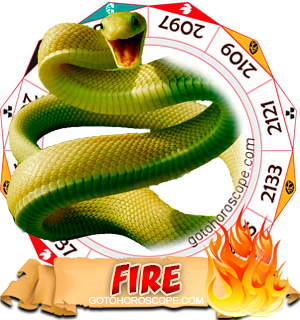 Fire Snake Personality Horoscope based on Chinese Astrology