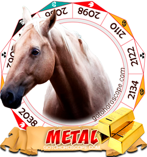 Metal Horse Chinese Astrology Animal Zodiac Personality Horoscope
