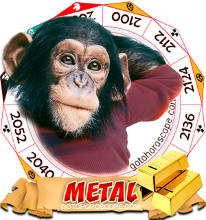 Metal Monkey Chinese Astrology Animal Zodiac Personality Horoscope