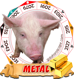 Metal Pig Chinese Astrology Animal Zodiac Personality Horoscope
