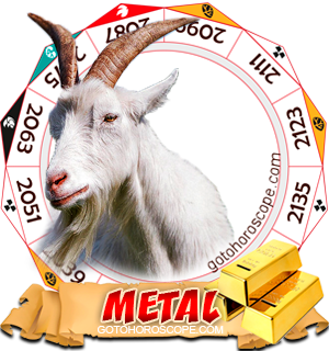 Metal Ram Chinese Astrology Animal Zodiac Personality Horoscope