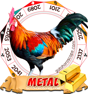 Metal Rooster Chinese Astrology Animal Zodiac Personality Horoscope