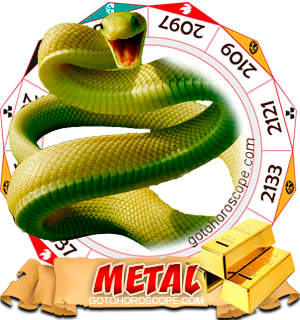 Metal Snake Chinese Astrology Animal Zodiac Personality Horoscope