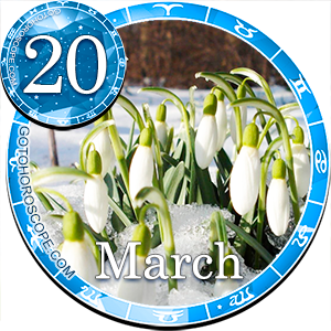 Daily Horoscope March 20, 2013 for all Zodiac signs