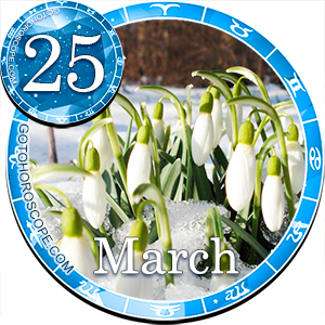Daily Horoscope March 25, 2013 for 12 Zodica signs