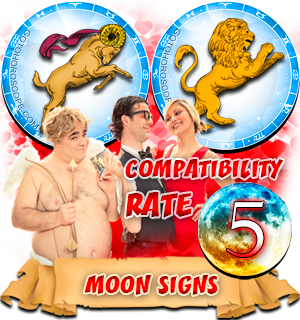 Aries Leo Compatibility Horoscope for Moon in Zodiac sign, Leo Aries