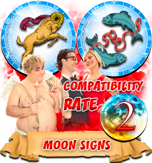 Aries Pisces Compatibility Horoscope for Moon in Zodiac sign