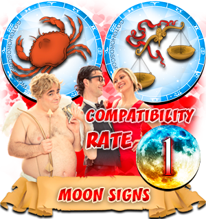 Cancer Libra Compatibility Horoscope for Moon in Zodiac sign