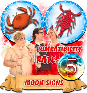 Scorpio Cancer Moon signs Compatibility
