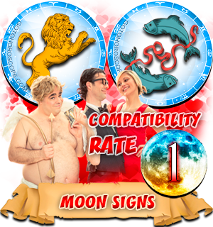 Pisces Leo Moon signs Compatibility