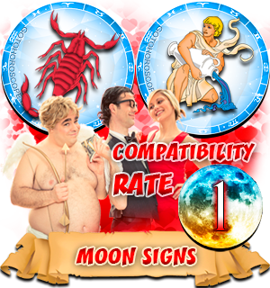 Scorpio Aquarius Compatibility Horoscope for Moon in Zodiac