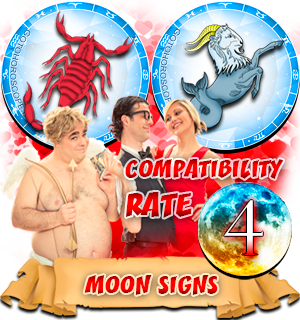 Scorpio Capricorn Compatibility Horoscope for Moon in Zodiac sign