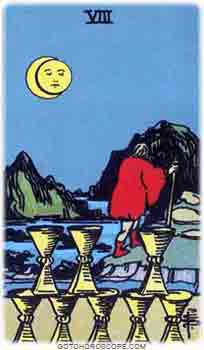Eight of cups Tarot Card Meanings for Minor Arcana