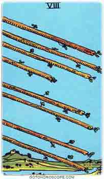 Eight of wands Tarot Card Meanings for Minor Arcana