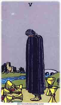 Five of cups Tarot Card Meanings for Minor Arcana