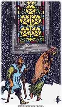 Five of pentacles Tarot Card Meanings for Minor Arcana