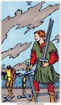 Five of swords Tarot Card Meanings for Minor Arcana