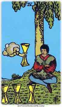 Four of cups Tarot Card Meanings for Minor Arcana