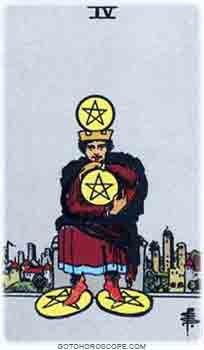 Four of pentacles Tarot Card Meanings for Minor Arcana