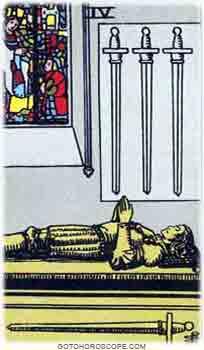 Four of swords Tarot Card Meanings for Minor Arcana