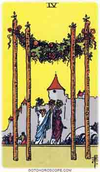 Four of wands Tarot Card Meanings for Minor Arcana