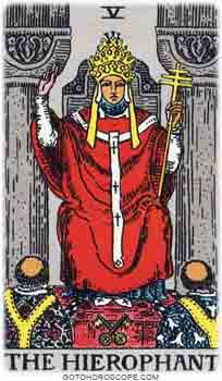 Hierophant Tarot Card Meanings for Major Arcana
