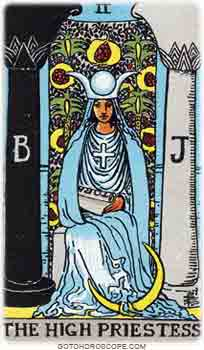 High priestess Upright Tarot Card Meanings
