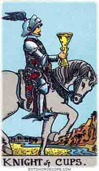 Knight of cups Tarot Card Meanings for Minor Arcana