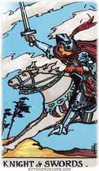 Knight of swords Tarot Card Meanings for Minor Arcana